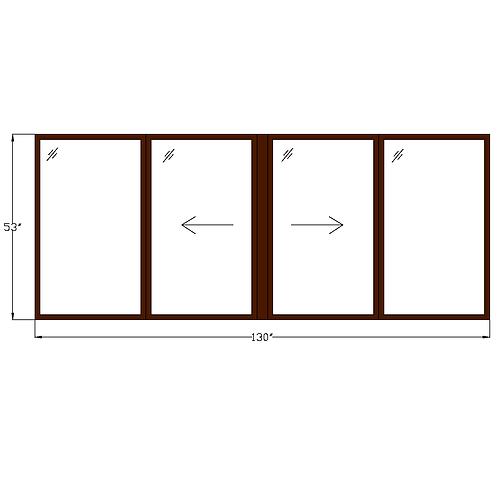 "Representative A Twin Sliding Window 130"" x 53"""