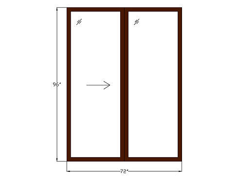 "Tower Villas PD3 Sliding Glass Door - 72"" x 96"""