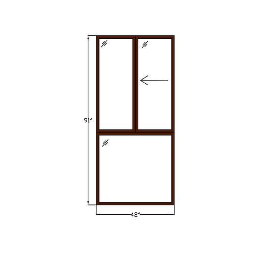 "Representative D Sliding Window over Fixed - 42"" x 91"""