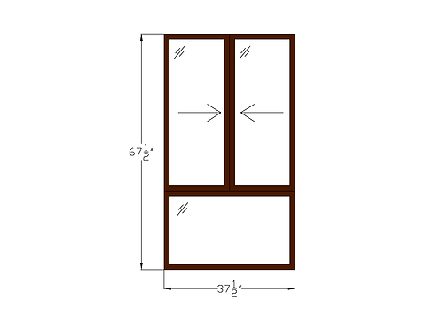 "Glenvale W1 Sliding Window over Fixed - 37-1/2"" x 67-1/2"""