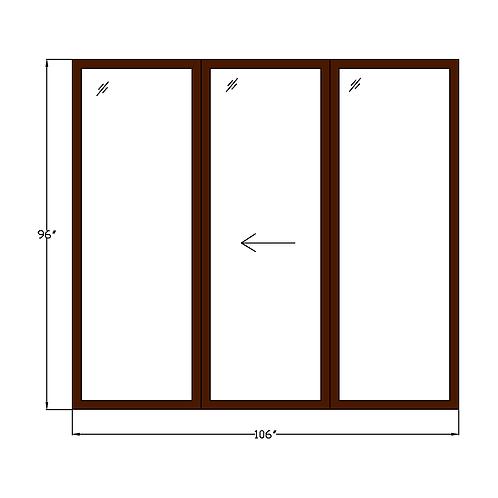 "Representative P1 Sliding Glass Door - 106"" x 96"""