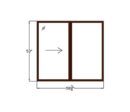 "Lakeside Plaza W2 Sliding Window - 58-3/4 x 53"""