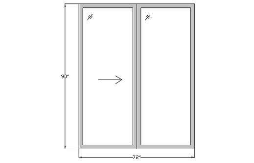 "Whitehall PD3 Sliding Glass Door - 72"" x 90"""