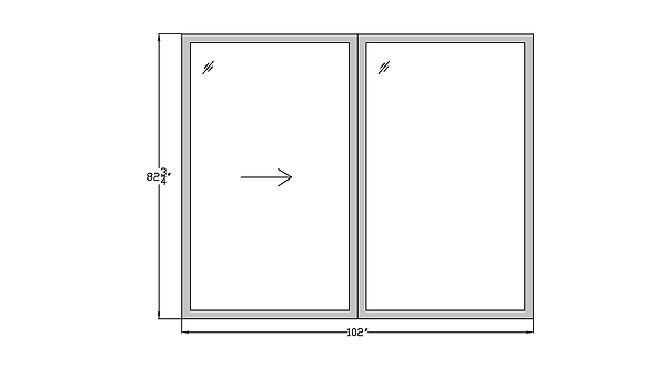 "Horizon House PD1 Sliding Glass Door - 102"" x 82-3/4"""