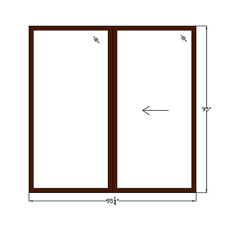 "Idylwood PD1 Sliding Glass Door - 95-1/4"" x 95"""
