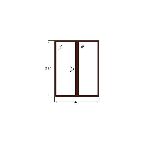 "Representative F Sliding Window - 42"" x 53"""