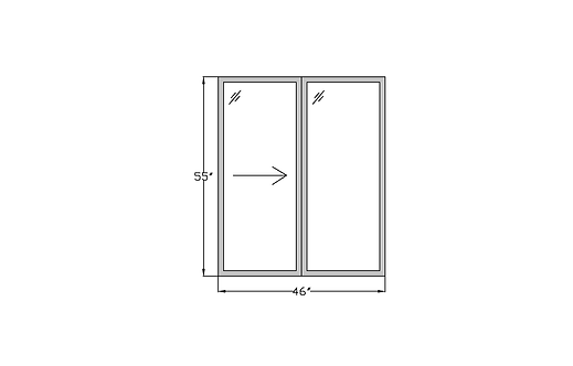 "Whitehall W1 Sliding Window - 46"" x 55"""