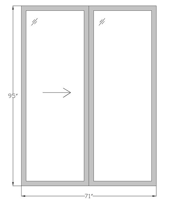 "Lakeside Terrace PD1 Sliding Glass Door - 71"" x 95"""