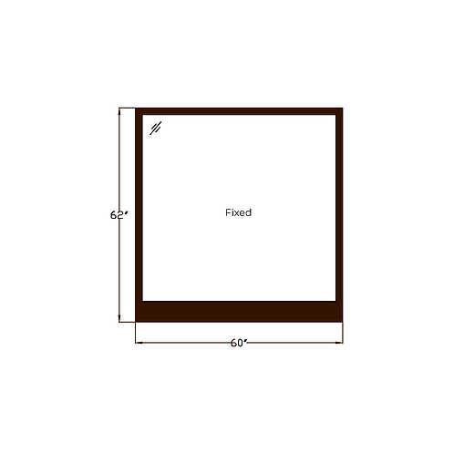 "Skyline House W5 Fixed Picture Window - 60"" x 62"""