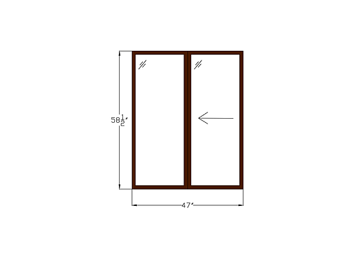 "Woodlake Towers W1 Sliding Window - 47"" x 58-1/2"""