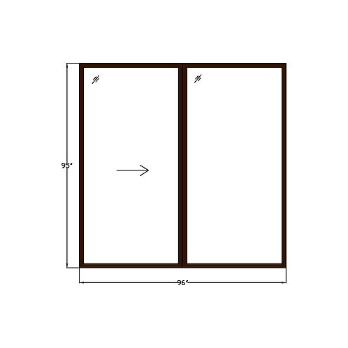 "Greenhouse P4 Sliding Glass Door - 96"" x 95"""