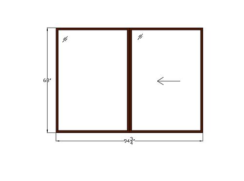 """Skyline Plaza W2 Sliding Window - 94-3/4"""" x 68"""""""