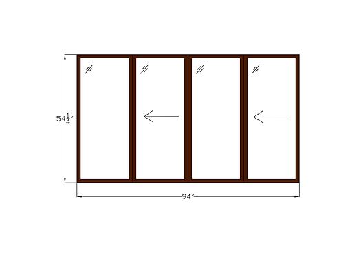 """Twin Sliding Window 94"""" x 54-1/4"""""""