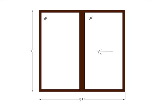 "Woodlake Towers P2 Sliding Glass Door - 96"" x 79"""