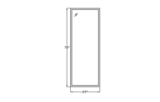 """Whitehall W8 Fixed Picture Window - 29"""" x 78"""""""
