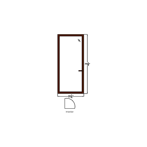 "Skyline Square T1 Terrace Door - 35-1/4"" x 79-1/2"""
