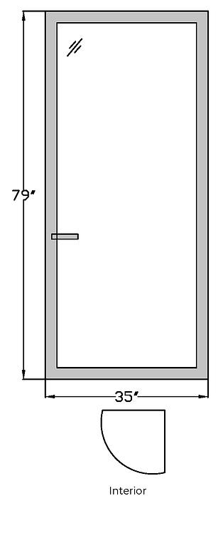 """Pavillion on the Park T2 Terrace Door - 35"""" X 79"""""""