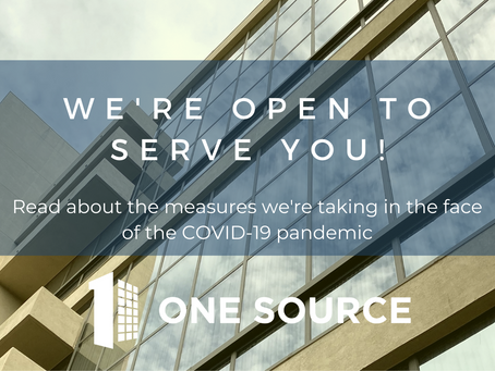 One Source Windows: Our business remains open!