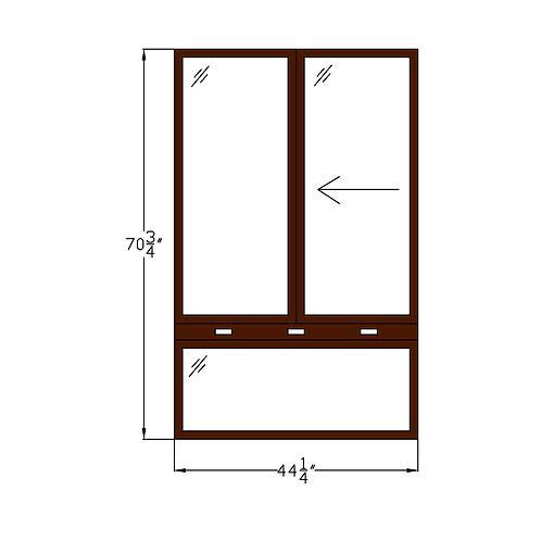 """Regency of McLean W2 Sliding Window over Fixed - 44-1/4"""" x 70-3/4"""""""