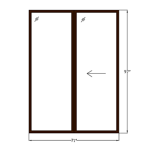 "Montebello P2 Sliding Glass Door - 71"" x 97"""