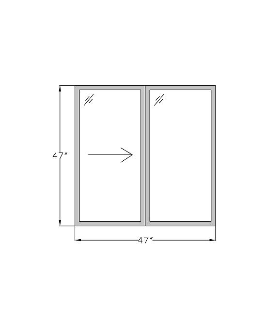 """Lakeside Terrace W1 Sliding Window - 47"""" x 47"""""""