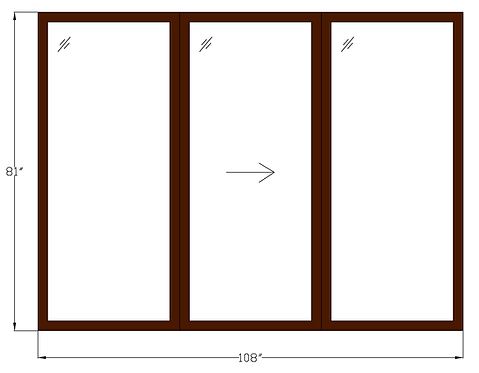 "Glenvale PD1 Sliding Glass Door - 108"" x 81"""