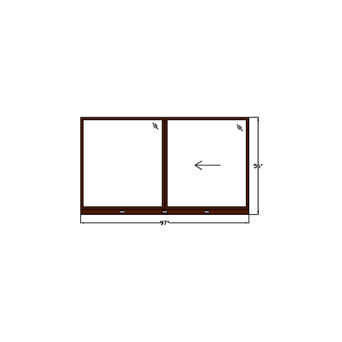 "Skyline Square W6 Sliding Window - 97"" x 56"""