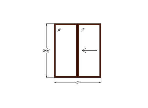"Sliding Window - 47"" x 54-1/4"""