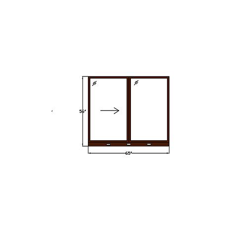 """Skyline Square W1 Sliding Window - 65"""" x 56"""""""