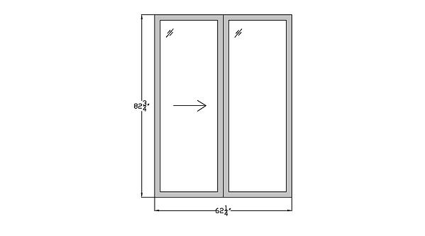 "Horizon House PD4 Sliding Glass Door - 62-1/4"" x 82-3/4"""