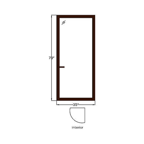 """Skyline House T1 Terrace Door - 35"""" x 78"""""""