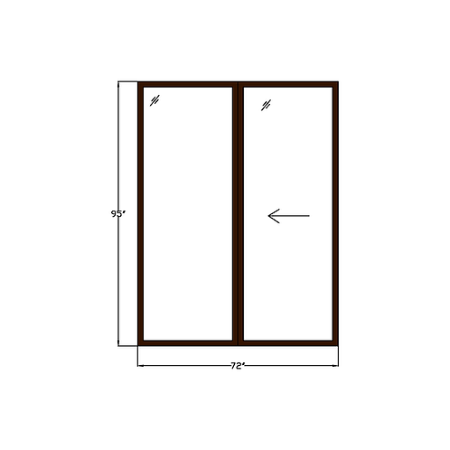 "Greenhouse P3 Sliding Glass Door - 72"" x 95"""