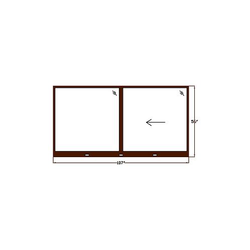 """Skyline Square W7 Sliding Window - 107"""" x 56"""""""