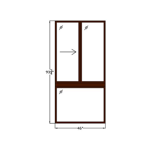 "Idylwood W2 Sliding Window over Fixed - 46"" x 93-7/8"""