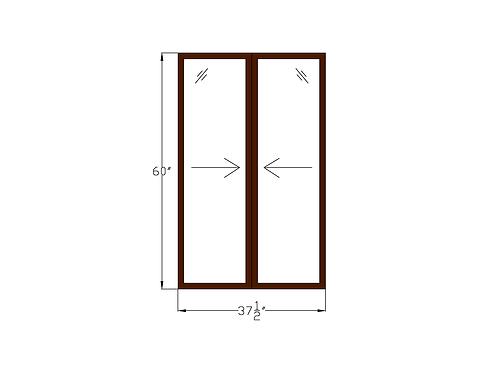 """Glenvale W2 Sliding Window - 37-1/2"""" x 60"""""""