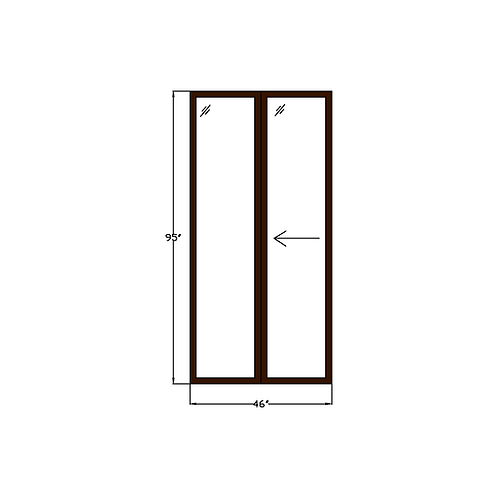 "Greenhouse P1 Sliding Glass Door - 46"" x 95"""