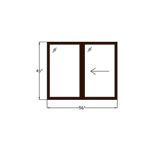 "Montebello W1 Sliding Window - 56 x 46"""
