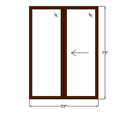 "Lakeside Plaza P3 Sliding Glass Door - 59"" x 79"""