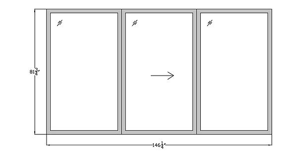 """Horizon House PD2a Sliding Glass Door - 146-1/4"""" x 81-3/4"""""""