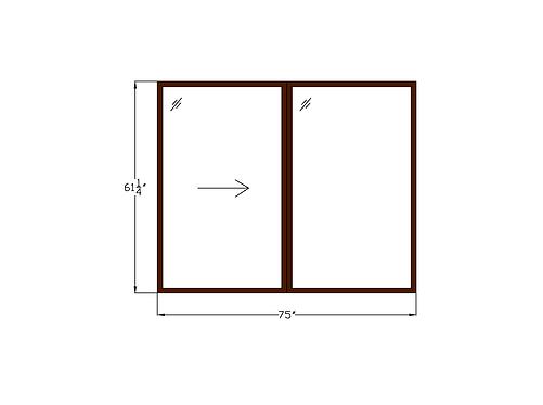 """Skyline Plaza W3 Sliding Window - 75"""" x 61-1/4"""""""