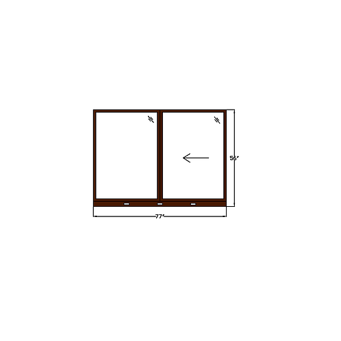 "Skyline Square W2 Sliding Window - 77"" x 56"""