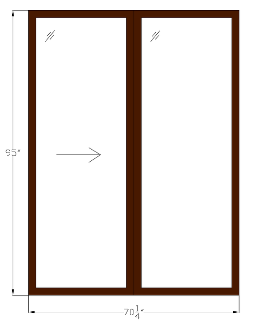"Westlake Towers PD1 Sliding Glass Door - 70-1/4"" x 95"""