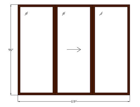"""Tower Villas PD2 Sliding Glass Door - 119-1/2"""" x 96"""""""