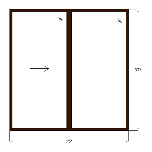 "Montebello P1 Sliding Glass Door - 95"" x 97"""