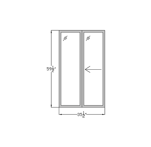 "Penthouse W2A Sliding Window - 35-1/2"" x 59-1/2"""