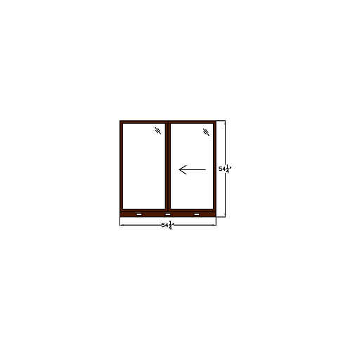 "Skyline Square W8 Sliding Window - 54-1/4"" x 54-1/4"""