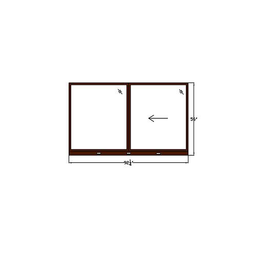 """Skyline Square W4 Sliding Window - 92-1/4"""" x 56"""""""