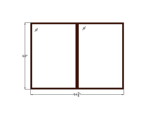 """Skyline Plaza W1 Fixed Picture Window - 94-3/4"""" x 68"""""""