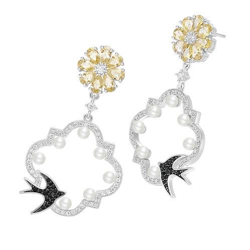 Swallow Bird Drop Earrings