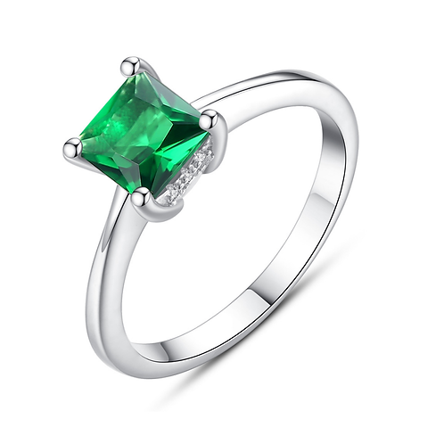 Princess Cut 2 ct. Emerald